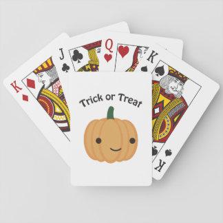 Trick or Treat Pumpkin Poker Deck
