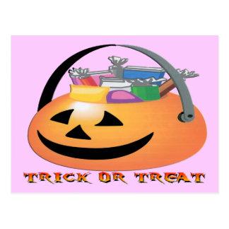 Trick or Treat Pumpkin Postcard