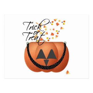 Trick Or Treat Pumpkin Postcards