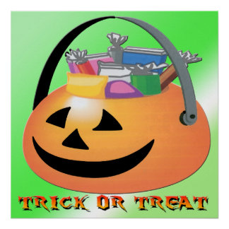 Trick or Treat Pumpkin Poster