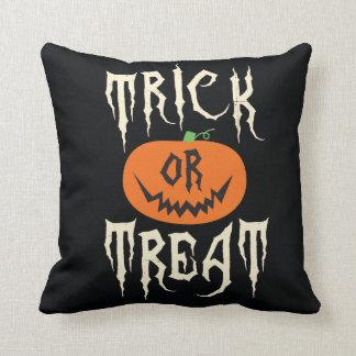 Trick or Treat Pumpkin Throw Pillow