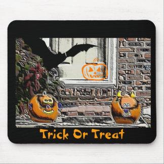 Trick or Treat Pumpkins & Bat Mouse Pad