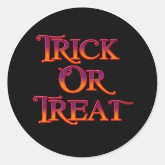 Trick or Treat Round Sticker