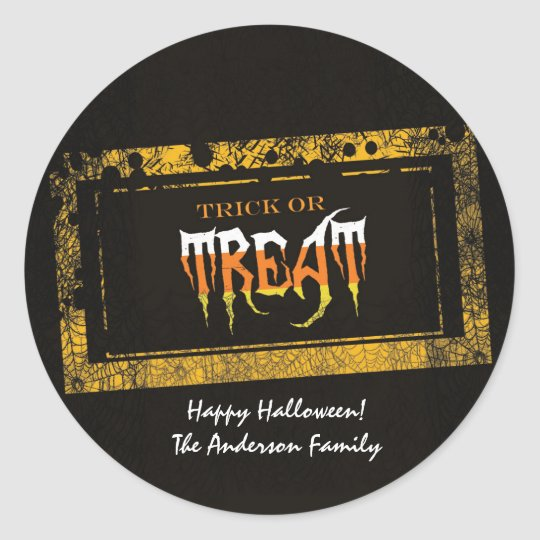 Trick or Treat Sickers Classic Round Sticker