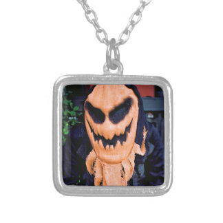 Trick or Treat Silver Plated Necklace