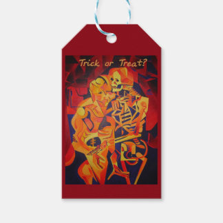 Trick or Treat Skeleton Gift Tags