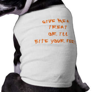 TRICK OR TREAT! SLEEVELESS DOG SHIRT