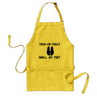 Trick or Treat Smell My Feet Halloween Apron