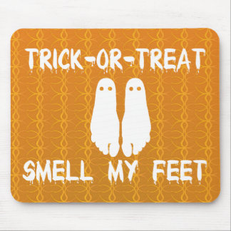 Trick or Treat Smell My Feet Halloween Mouse Pads