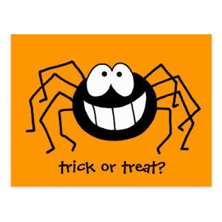 Trick or Treat Spider Postcard