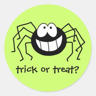 Trick or Treat Spider Round Sticker
