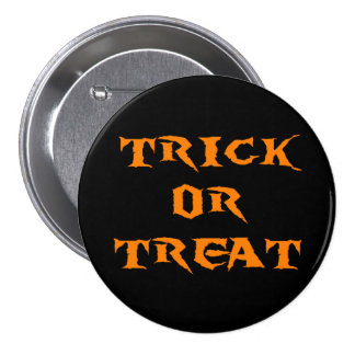 Trick Or Treat Spooky Button