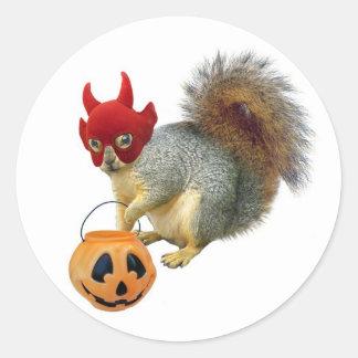 Trick or Treat Squirrel Classic Round Sticker