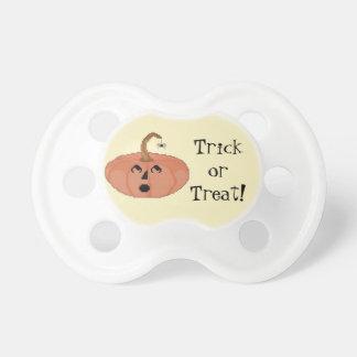 Trick or Treat! Startled Pumpkin Pacifier