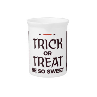Trick Or Treat Sweet Candy Halloween Design Pitcher