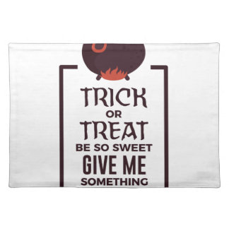 Trick Or Treat Sweet Candy Halloween Design Placemat