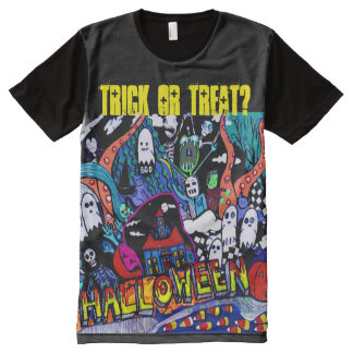 Trick or Treat T for Halloween All-Over Print T-Shirt
