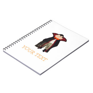 Trick or Treat Toddler Dracula Vampire Custom Name Notebook