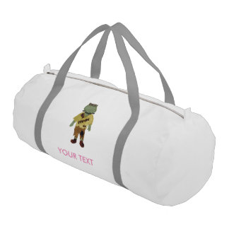 Trick or Treat Toddler Frankenstein Custom Name Gym Duffel Bag