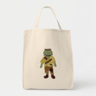 Trick or Treat Toddler Frankenstein Monster Grocery Tote Bag