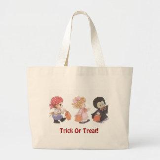 Trick Or Treat Trio! - Halloween Jumbo Tote Bags