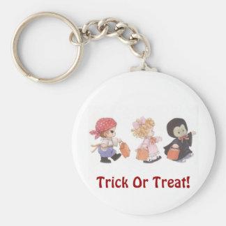 Trick Or Treat Trio! - Halloween Keychain Basic Round Button Keychain