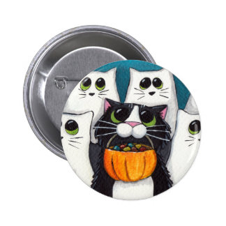 Trick or Treat V 2 - Halloween Cat Button