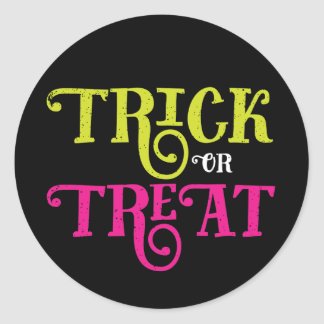 Trick or Treat Vintage Halloween Stickers