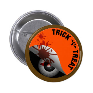 Trick or Treat : What's hiding inside? Pinback Buttons