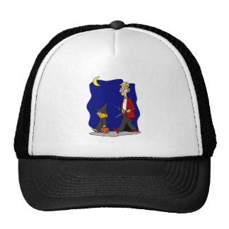 Trick or Treat Witch Girl Trucker Hats