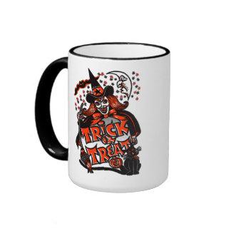 Trick or Treat Witch Halloween (vintage) Coffee Mug