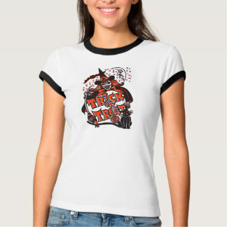 Trick or Treat Witch Halloween (vintage) T Shirt