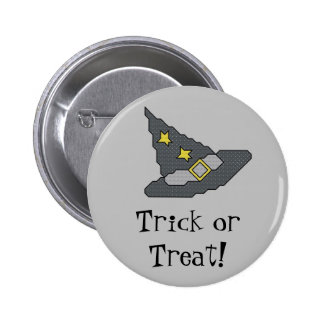 Trick or Treat! Witch Hat Button