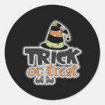 Trick Or Treat Witch Hat Halloween Sticker
