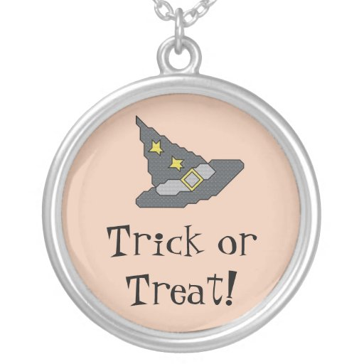 Trick or Treat! Witch Hat Necklace