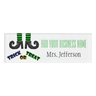 Trick Or Treat Witches Feet Name Tag