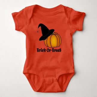 Trick-Or-Treat Witch's Hat & Pumpkin Baby Bodysuit