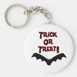 Trick or Treat with bat Key Chain