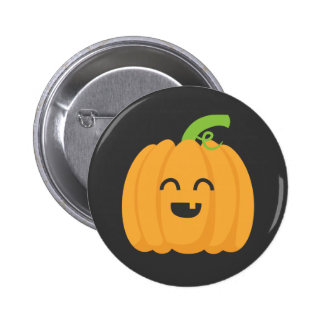 Trick or Treat with Cute Pumpkin for Halloween 6 Cm Round Badge