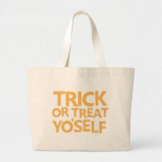 trick or treat yo'self jumbo tote bag