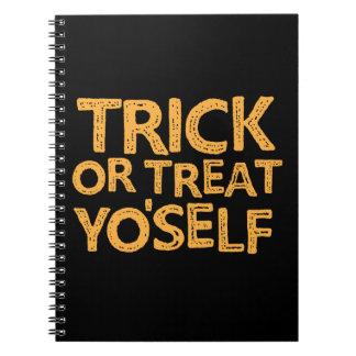 trick or treat yo'self notebook