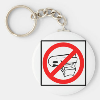 Trick or Treaters Prohibited - Halloween Sign Keychains