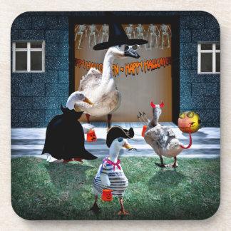 Trick or Treating Ducks Beverage Coaster