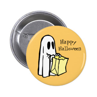 Trick or Treating Ghost Happy Halloween Pin
