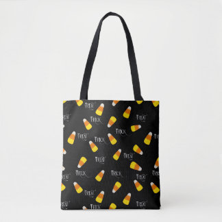 Trick or Treating hallowe'en candy corn Tote Bag