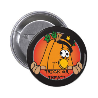 Trick or Trick Pumpkin Peeker 6 Cm Round Badge