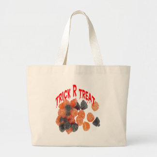 Trick R treat candy baq Jumbo Tote Bag
