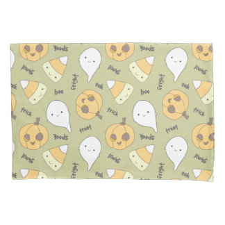 Trick Treat Boo Cute Halloween Pattern Pillowcase