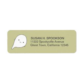 Trick Treat Boo Ghost Halloween Return Address Lab Return Address Label