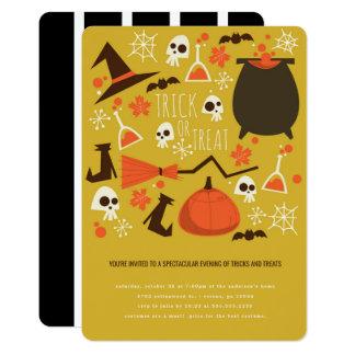 Tricks and Treats Halloween Party Invitation